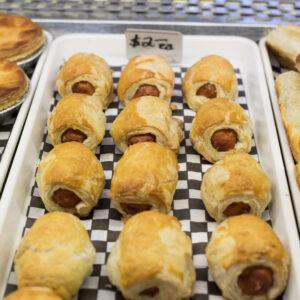 Gouda sausage bomb puff pastry gouda sausage savoury