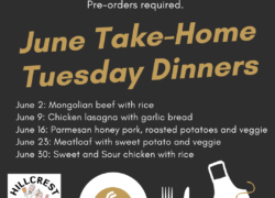 Tuesday, June 2: Take-Home Dinner Mongolian Beef