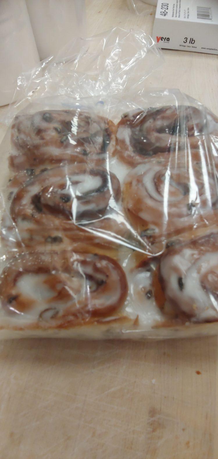 Fresh baked cinnamon buns white rock surrey bakery