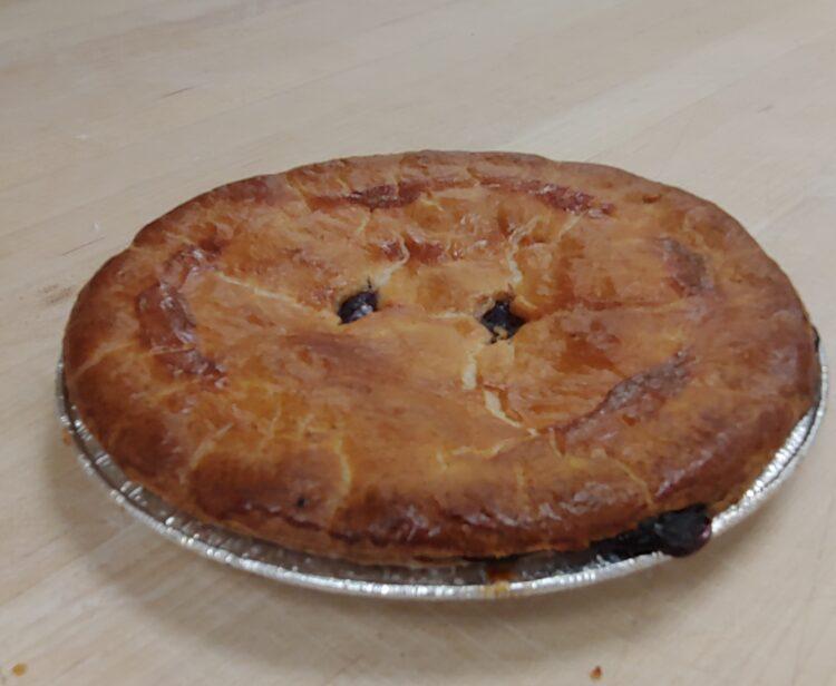 Fresh baked BC Blueberry pie white rock surrey