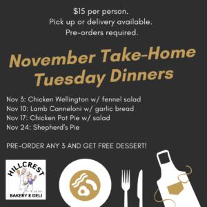 Take home tuesday dinner November