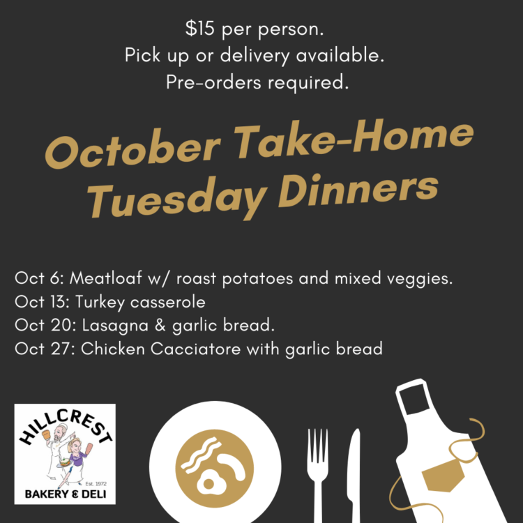 October Take Home Dinners White Rock Bakery and Deli